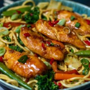 chicken stir fry noodles