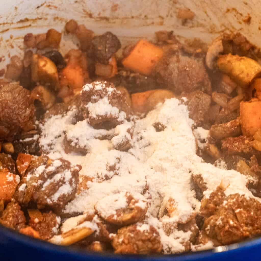 flour added to the beef filling