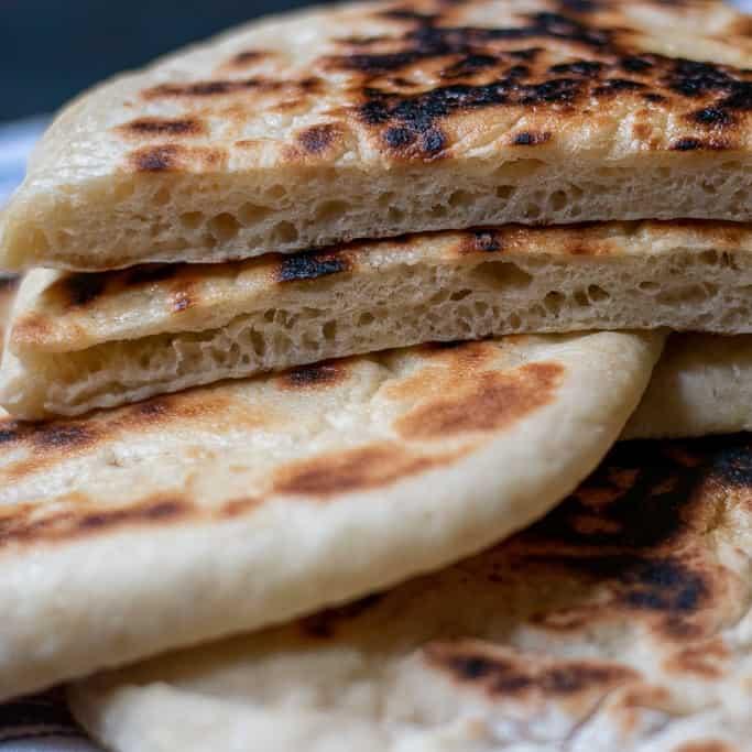 Turkish flat bread bazlama