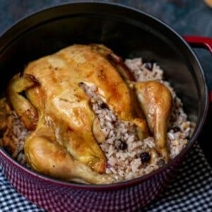 rice stuffed roasted chicken recipe