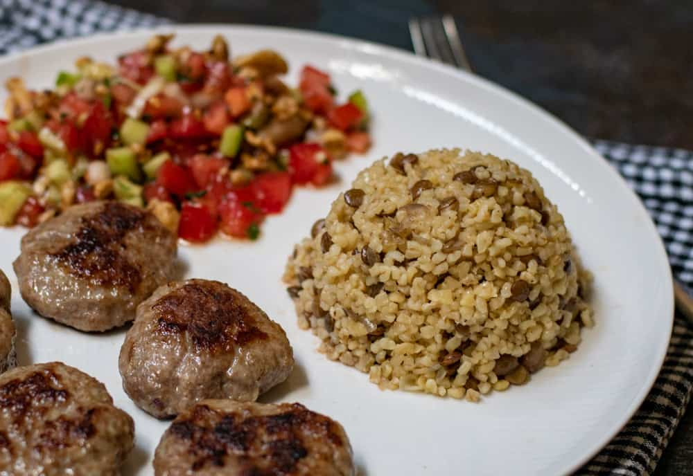lentil and bulgur pilaf