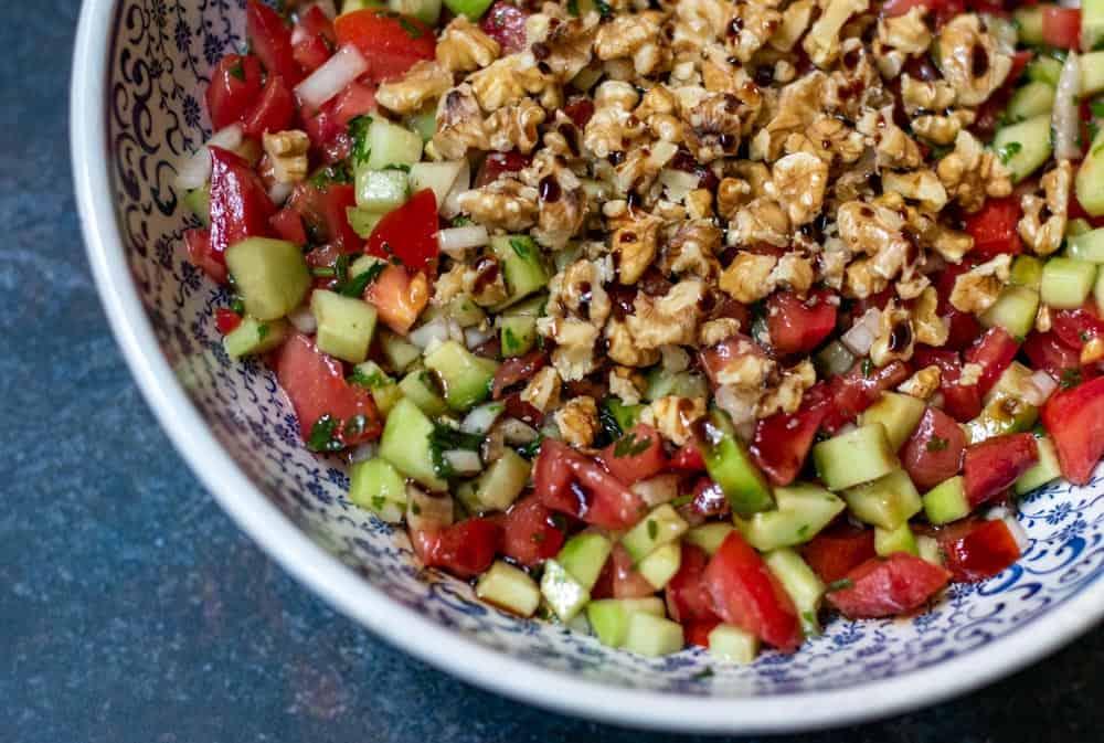 tomato and walnut salad gavurdagi salatasi