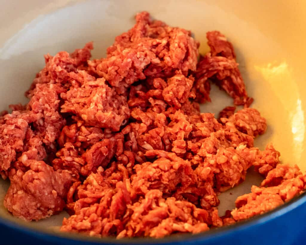 Mince for the meat sauce