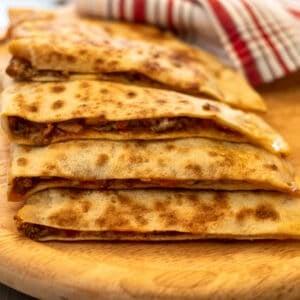 mince filled Turkish flat bread
